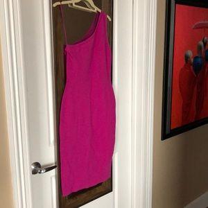 Diane Von Furstenberg knit body con dress .